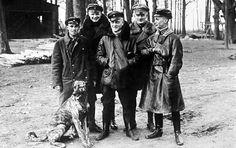 Top German aces of Jasta 11, From Left to right, Ltn Sebastian Festner, Ltn. Karl Emil Schäfer, Freiherr Manfred von Richthofen, Lothar von Richthofen, Leutnant Kurt Wolff.