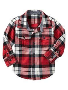 Gap Multi Plaid Shirt - red wagon
