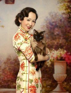 modern remake (photograph) of vintage Shanghai poster