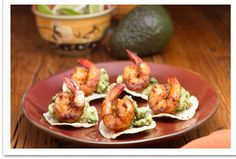 Make Your Own: Mini Tostadas with Guacamole and Shrimp | Baby In The Kitchen