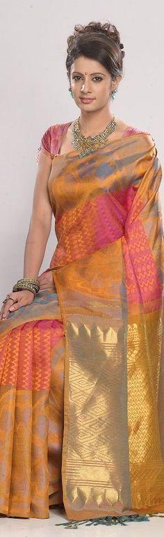 Pure Silk Saree on an Indian Beauty