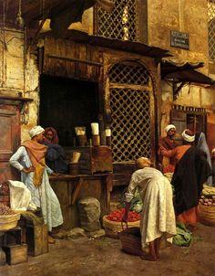 Ludwig Deutsch - Sharia El Sanadkyeh, Cairo 1889