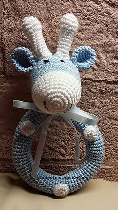 Ravelry: Baby Rattle Raf the Giraffe pattern by Jannie Brommer