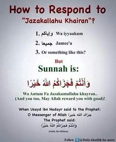 how to respond politely sunnah beautiful . must practice this every day . gives such peace of mind . Islam Hadith, Duaa Islam, Islam Muslim, Islam Quran, Islam Religion, Alhamdulillah, Islam Beliefs, Allah Islam, Prophet Muhammad Quotes