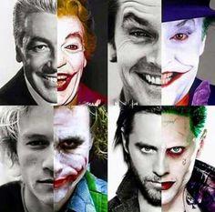 Geek Discover Absolutely love this! The men who portrayed the Joker! (Cesar Romero Jack Nicholson Heath Ledger and Jared Leto. Joker Batman, Joker Art, Black Batman, Gotham Joker, Joker Heath, Batman Arkham, Batman Art, Batman Robin, Marvel Vs