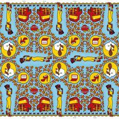 Jackie So fabric by Heidi Chisholm for Shine Shine African Textiles, African Fabric, African Patterns, African Prints, African Image, South African Design, Haida Art, Decoration Plante, Textile Patterns