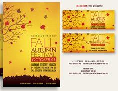 Fall Autumn Festival Flyer & FBcover by DesignWorkz on Creative Market
