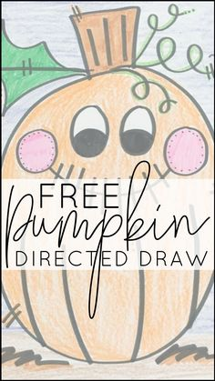 Kid art is my favorite kind of art, which is why it's so fun to incorporate directed drawings into the primary classroom. This pumpkin directed drawing is perfect for preschool, kindergarten, first grade, and second grade, and would be an excellent addition to your October themes, whether you're studying fall, pumpkins, or Halloween! This post includes a FREE printable!