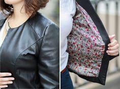 Veste H de Dressing Chic cuir - details