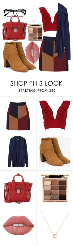 """""""Salted Caramel Suede"""" by bellarina340 ❤ liked on Polyvore featuring LaMarque, Boohoo, Joules, Aquazzura, 3.1 Phillip Lim, Stila, Lime Crime, Bulgari and EyeBuyDirect.com"""