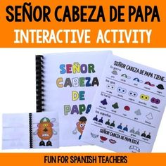 Las Partes del Cuerpo {Interactive Activity} by Fun for Spanish Teachers Spanish Teaching Resources, Spanish Lessons, Spanish Class, Elementary Spanish, Elementary Schools, Teacher Hacks, Teacher Pay Teachers, Spanish Teacher, Interactive Activities