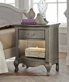 Look what I found on #zulily! Antique Silver Kensington Shelf-Light Nightstand #zulilyfinds