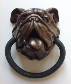 Engelse Bulldog Doorknocker van Dogknockers op Etsy