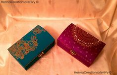 Maid of Honor Keepsake/Jewelry Boxes in by HennaCreationsofeNVy.#mehndi #mehndibox #henna #hennabox #mehndiartist #thaals #thaal #weddingthaal #decor #homedecor #weddingdecor #mehndidecor #box #jewelrybox #boho #bohemian #bohemianbox #bohobox #moroccanstylebox #indiangifts #indianbox #hinduwedding #indianweddinggifts #toronto #bramptonstyle #golddesign #hennadesign #mehndidesign #mehndiinspired #arabicmehndidesign #hennaartist #mehndiartist #hennaartist #hennaunique