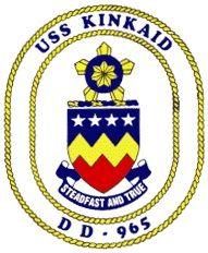 USS Kinkaid, DD-965, coat of arms.
