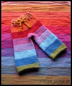 Girasol Earthy Rainbow Longies by Little Bear Knitwear, via Flickr