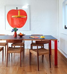 Anthony Burrill's dining room
