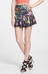 Re-Named Floral Print Flare Skirt