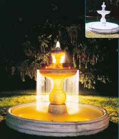 tiered fountain two tires italian vila art large pool fountains