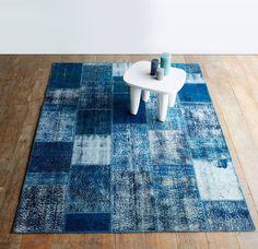 Originals Furniture Handmade Blue Turkish Patchwork Rug #Home #Accents #Styling #interior