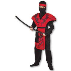 Red Dragon Ninja Warrior Costume now available at http://www.karatemart.com