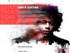 Show that you ROCK! website page (Jimi Hendrix) by Tema Tarasov