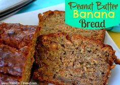 Delicious and satisfying, this easy Peanut Butter Banana Bread is made with Reese's Peanut Butter chips! Perfect for breakfast or snacks!