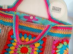 Tecendo Artes em Crochet: Bolsa de Squares Estilo Boho Chic Follow → ♡✰.Ꮙɨv Շrɨֆ..✰♡ vivcris35