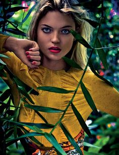 """Martha Hunt in """"The Nature Of Things"""" Photographed by Enrique Badulescu& Styled by Anne-Marie Curtis for Elle UK, June 2012"""