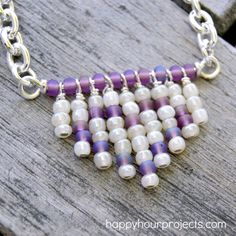 DIY - Necklace - just chain, wire, headpins.  #Wire #Jewelry #Tutorials