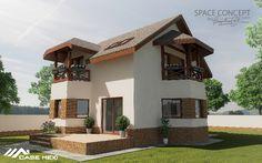 Casa Moderna, construita pe Structura Metalica Usoara Smart Set, Home Fashion, Metal, Mansions, House Styles, Home Decor, Trendy Tree, Houses, Decoration Home