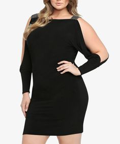 This Black Narella Dress - Plus is perfect! #zulilyfinds