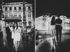 Such a sweet engagement shoot following a surprise proposal in Vienna! Photos by Claire Morgan  via JunebugWeddings.com.