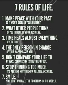 Inspirational quotes - 7 Rules of Life leadership personalgrowth transformation awakening karma karmic balance innerpeace success source unknown Positive Quotes For Life Encouragement, Life Quotes To Live By, Wisdom Quotes, Me Quotes, Rules Quotes, Quotes About Karma, Karma Sayings, Karma Quotes Truths, Truth Quotes