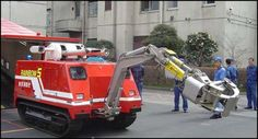 The Japanese have developed a small robot fire engine called the Rainbow 5