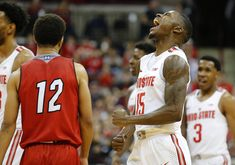 Ohio State pulls away to beat in-state rival Miami - Big Ten Network Ohio State Basketball, Buckeyes Football, Basketball Hoop, Beats, Miami, Baseball Tickets, Big