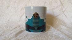 Sacramento Zoo Rare Feline Center Art Deco Style Coffee Mug 1990's