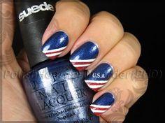Patriotic Fingers: 4th of July Nail Art Idea