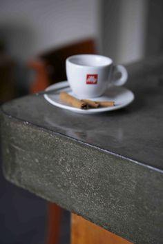 Poured concrete bar