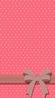 Polka dot pink and white iPhone wallpaper ( also good for other phones if you adjust it when you set it ) with a bow! Wallpaper Para Iphone 6, Bow Wallpaper, Best Wallpaper Hd, Whatsapp Wallpaper, Cute Wallpaper For Phone, Screen Wallpaper, Mobile Wallpaper, Pattern Wallpaper, Wallpapers Android