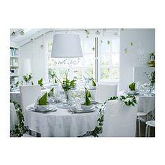 IKEA - JÄRA, Kattovalaisimen varjostin, 55 cm, valkoinen, , Tekstiilivarjostin suodattaa valon kauniisti ja tuo kotiin viihtyisän tunnelman.