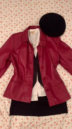 Gossip Girl, Fall Outfits, Leather Jacket, Blazer, Fitness, Jackets, Clothes, Ivy League, Issa