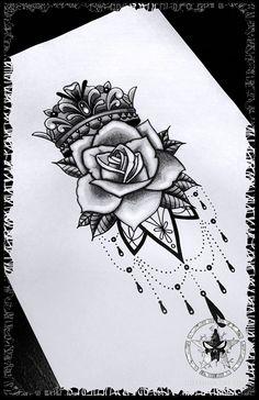 Check more at kopf. Dope Tattoos, Badass Tattoos, Body Art Tattoos, Sleeve Tattoos, Tiny Tattoos With Meaning, Henna Inspired Tattoos, Leg Tattoos Women, Tattoo Signs, Black Rose Tattoos