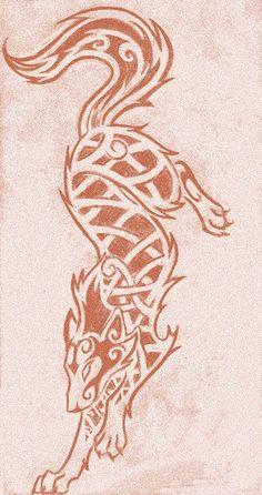 Knotwork Wolf by darazan