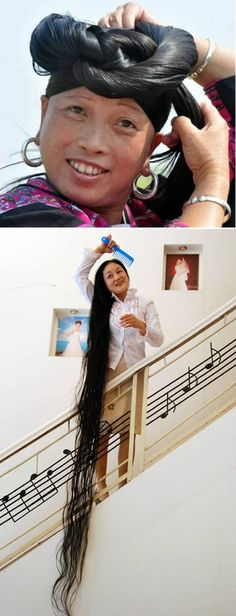 There is a point when your hair is so long that it turns ugly! The Woman Who Holds the Official Record for the World's Longest Hair