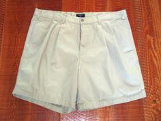 Men's Dockers Khaki Pleated Front Shorts 100% Cotton Sz 40     #Dockers #GolfShortsCasualfrontpleatedshorts