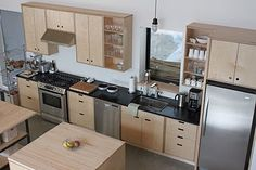 Birch Plywood Kitchen Cabinet Doors - Step by step directions for measuring your face frame cabinets for cupboard doors that Plywood Cabinets Kitchen, Birch Cabinets, Kitchen Cupboard Doors, Kitchen Handles, Upper Cabinets, Little Kitchen, New Kitchen, Kitchen Ideas, Kitchen Images
