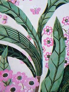 Josef Frank retro jungle print pink and green Textile Prints, Textile Patterns, Textile Design, Textiles, Fabric Design, Josef Frank, Pretty Patterns, Beautiful Patterns, Flower Patterns