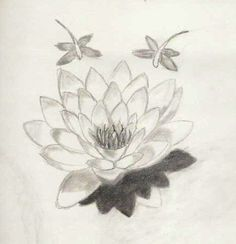 Dragonflies n Water Lily Tattoo Sketch   Tattoobite.com