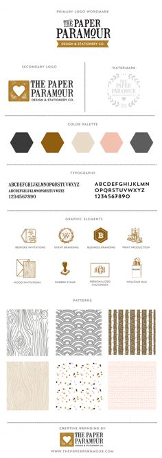 Wood Grain!   | The Paper Paramour Brand Board Branding more on http://html5themes.org